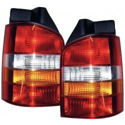Galiniai žibintai skirti VW T5 raudona balta geltona