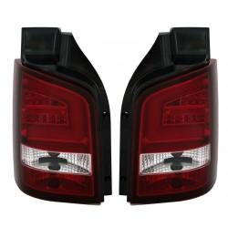 LightBar galiniai žibintai skirti VW T5 Facelift raudona balta