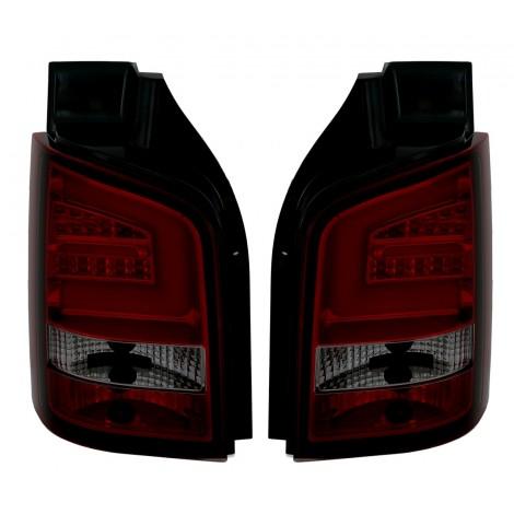 LightBar galiniai žibintai skirti VW T5 Facelift raudona tamsinta