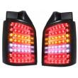 LightBar galiniai žibintai skirti VW T5 skaidrūs tamsinti juodi