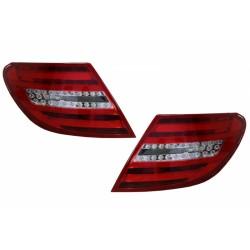LED galiniai žibintai skirti MB C-Class W204 raudona balta