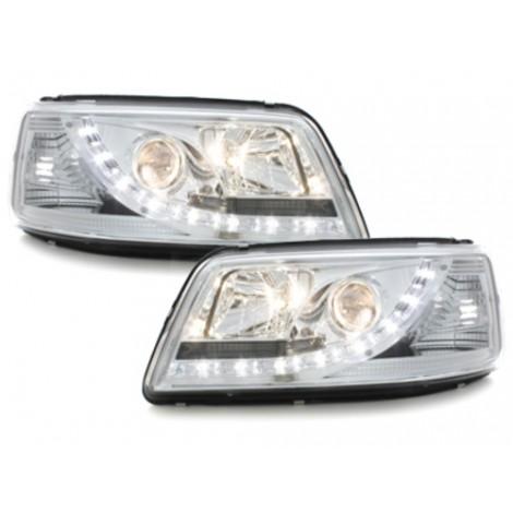 DRL priekiniai žibintai skirti VW T5 šviesūs