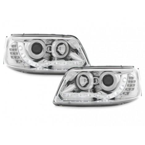 DRL priekiniai žibintai skirti VW T5 šviesūs LED posūkiai