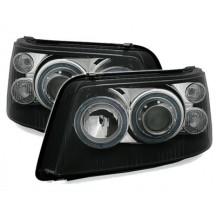 Angel Eyes priekiniai žibintai skirti VW T5 juodi