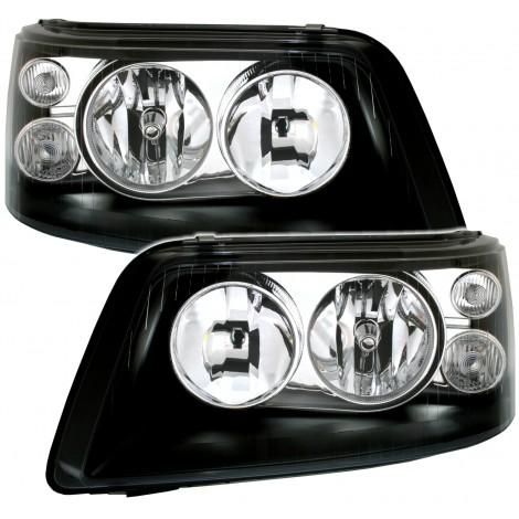 Priekiniai žibintai skirti VW T5 juodi