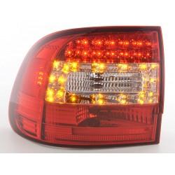 LED galiniai žibintai skirti Porsche Cayenne raudona balta