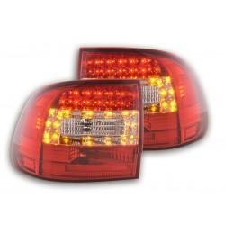 LED galiniai žibintai skirti Porsche Cayenne raudona tamsinta