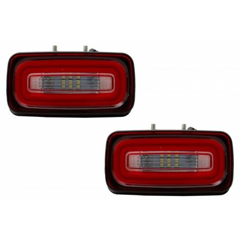lightBar galiniai priešrūkiniai žibintai skirti MB G-Class W463 raudoni tamsinti