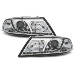 LED priekiniai žibintai skirti Skoda Octavia 2 (1Z) šviesūs