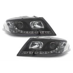 LED priekiniai žibintai skirti Skoda Octavia 2 (1Z) juodi