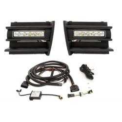 LED DRL dienos šviesos žibintai skirti Skoda Octavia 2 (1Z) su gotelėmis