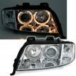 Xenon Angel Eyes priekiniai žibintai skirti Audi A6 C5 4B
