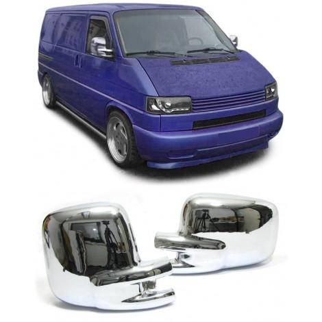 Šoninių veidrodžių dangteliai skirti VW T4 chromuoti
