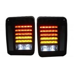 FULL LED galiniai žibintai skirti JEEP Wrangler / Rubicon JK juodi