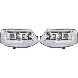 T6 Optik priekiniai žibintai skirti VW T5 Facelift 09- šviesūs