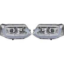 Priekiniai žibintai skirti VW T5 Facelift 09- šviesūs